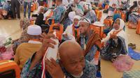 Jemaah Haji Indonesia yang akan pulang ke Tanah Air. Darmawan/MCH