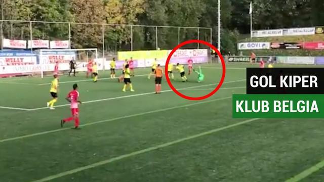 Berita video momen kiper klub amatir Belgia, KRC Gent, Kevin Frans, mencetak gol spektakuler pada menit-menit akhir pada Minggu (14/10/2018).