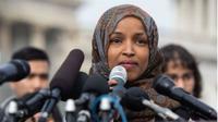 Politikus muslim AS yang berkerudung, Ilhan Omar (AFP/Saul Loeb)