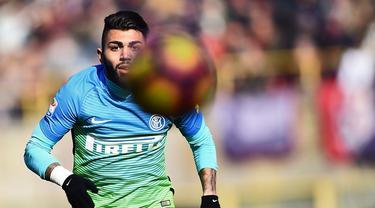 Striker Inter Milan Gabriel Barbosa jarang dimainkan musim ini.