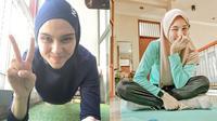 Pesona 6 Selebriti Berhijab Saat Olahraga. (Sumber: Instagram.com/zeezeeshahab dan Instagram.com/ichasoebandono)