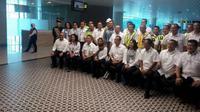 Menteri Badan Usaha Milik Negara (BUMN) Rini Soemarno meninjau Bandara Yogyakarta International Airport (Foto: Liputan6.com/Yanuar H)