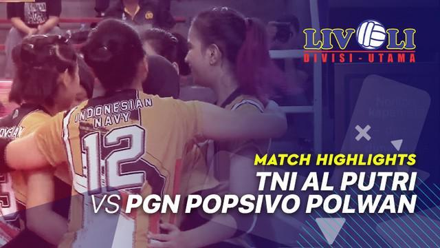 Berita video highlights Livoli 2019 di mana TNI AL Putri menang 3-1 atas  PGN Popsivo Polwan di GOR Dimyati, Banten, Selasa (15/10/2019).