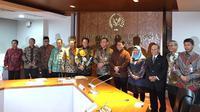 Pimpinan MPR dan KPK bertemu, Selasa (14/1/2020). (Liputan6.com/Delvira Hutabarat)