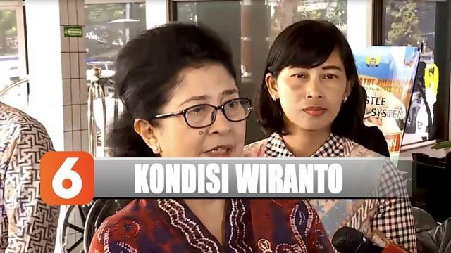 Usai menjenguk, Menkes Nila Moeloek menyampaikan bahwa kondisi Wiranto terus membaik.