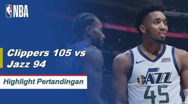 Berita Video Highlights NBA 2019-2020, La Clippers vs Utah Jazz 105-94