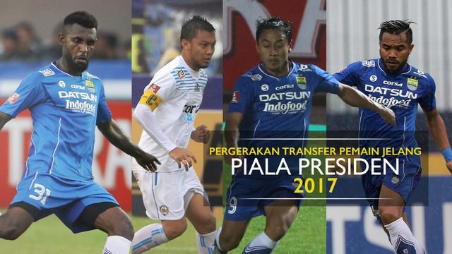 Berita video motion grafis soal pergerakan transfer pemain ke mantan klub jelang Piala Presiden 2017.