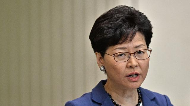 Kepala Eksekutif Hong Kong Carrie Lam (AFP/Anthony Wallace)