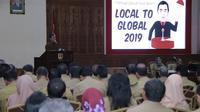 Wali Kota Semarang Hendrar Prihadi menyampaikan gagasann pemekaran kecamatan untuk mengatasi kesenjangan. (foto : Liputan6.com / felek wahyu)