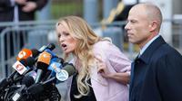Bintang porno Stormy Daniels, yang mengaku berselingkuh dengan Donald Trump. (AFP)
