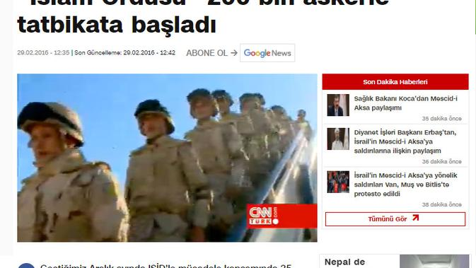 Cek Fakta Liputan6.com menelusuri klaim video Turki siap serang Israel