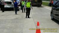 Kecelakaan diduga libatkan supercar Lamborghini di Cipali (dok. Polda jabar)