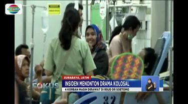 Tiga belas korban drama kolosal Surabaya Membara masih dirawat di tiga rumah sakit.