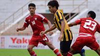 Uni Emirat Arab U-19 berhasil mengalahkan Malaysia U-19 dalam laga uji coba jelang Piala AFC U-19 2018. (dok Football Association of Malaysia)