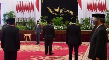 FOTO: Presiden Jokowi Lantik Enam Menteri Baru Kabinet Indonesia Maju