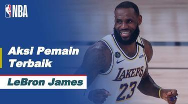Berita video aksi-aksi terbaik bintang Los Angeles Lakers, LeBron James, ketika tampil mengesankan pada gim kelima semifinal wilayah barat NBA 2019/2020, Minggu (13/9/2020) pagi hari WIB.