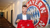 Winger Inter Milan, Ivan Perisic resmi bergabung dengan Bayern Munchen sebagai pemain pinjaman. (Twitter Bayern Munchen)