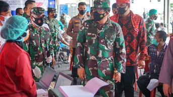 Panglima TNI Sebut Vaksinasi Covid-19 di Pasar Induk Medan Satu Hal yang Tepat