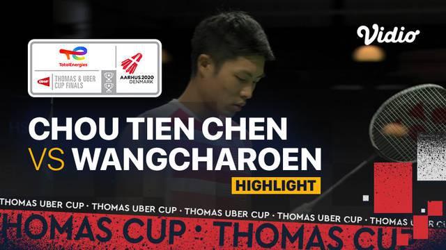 Berita Video, Highlights Pertandingan Piala Thomas antara Chinese Taipei Vs Thailand pada Sabtu (9/10/2021)