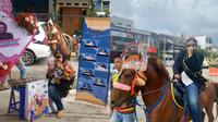 Mahasiswi Diarak Keliling Kompleks Naik Kuda Usai Sidang Skripsi. Sumber: TikTok/happieyippie