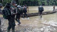 Satgas Yonif Raider 700/WYC saat bertugas di Papua