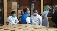 Menteri Perdagangan (Mendag) Agus Suparmanto melakukan pengecekan langsung ke gudang Bulog Divisi Regional Jawa Barat. (Istimewa)