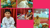 M. Faza Aulia Rahadiyanto penyandang down syndrome yang giat itikaf di masjid. Foto: Dokumen pribadi.