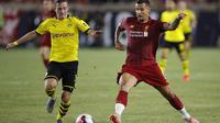 Bek Liverpool Dejan Lovren saat tampil menghadapi Borussia Dortmund di ICC 2019 Amerika Serikat (AFP)