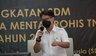 Menteri Kesehatan RI Budi Gunadi Sadikin menyempatkan berikan arahan pada kegiatan Peningkatan SDM Kader Pembina Rohis TNI AD tahun 2021 di Masjid Istiqlal Jakarta, Selasa, 23 Februari 2021. (Dok Kementerian Kesehatan RI)