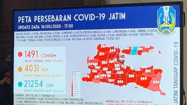 24 Daerah Berubah Dari Zona Merah Covid 19 Ke Kuning Dan Orange Di Jatim Surabaya Liputan6 Com