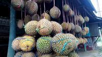 Durian dijajakan di pinggir jalan. (Foto: Liputan6.com/Muhamad Ridlo)