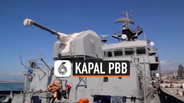 Kapal milik PBB rusak dalam ledakan Beirut, Lebanon. Beberapa staf mengalami luka-luka berat akibat ledakan tersebut. Kapal ini milik pasukan penjaga perdamaian PBB di Lebanon, UNIFIL.