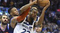Andrew Wiggins menjadi pahlawan kemenangan Timberwolves atas Thunder pada lanjutan NBA (AP)
