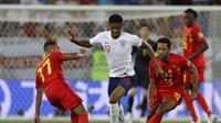 menelan kekalahan 1-2 dari Belgia pada matchday ketiga Grup G Piala Dunia 2018, di Stadion Kaliningrad, Kamis (28/6/2018) atau Jumat dini hari WIB. (AP/Alastair Grant)