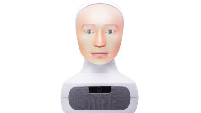 Ilustrasi robot buatan Furhat. Robot ini diprogram bisa mengubah ekspresi mereka.