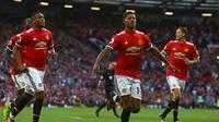 Penyerang Manchester United (MU), Marcus Rashford. (Geoff CADDICK / AFP)