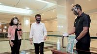 Menparekraf Wishnutama Kusubandio meluncurkan Indonesia Care di Plaza Senayan, Jakarta (Dok.Kemenparekraf)