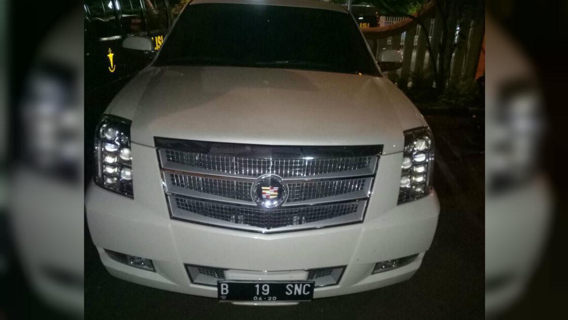 Cadillac putih turut diamankan dalam penangkapan Tessa Granit Satari (dok.Istimewa)