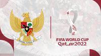 Logo Timnas Indonesia dan Piala Dunia 2022. (Bola.com/Dody Iryawan)
