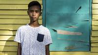 Pesepak bola SSB Tulehu Putra, Riski Ramdhani. (Bola.com/Vitalis Yogi Trisna)