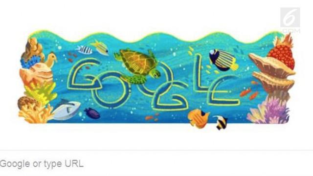 Google menampilkan keindahan alam bawah laut Taman Nasional Bunaken dalam doodle hari ini (14/8). Hal ini dilakukan untuk merayakan hari jadi Taman Nasional Bunaken ke-27 yang jatuh pada hari ini.