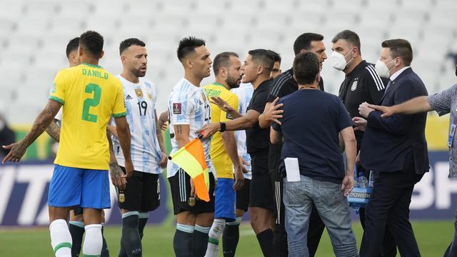 Pertandingan Brasil Vs Argentina Dihentikan Otoritas Kesehatan