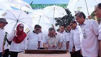 PT Aneka Tambang Tbk (ANTAM; IDX: ANTM; ASX: ATM) dengan bangga mengumumkan bahwa perusahaan melakukan inisiasi pengembangan Taman Buah Nusantara di Kecamatan Nanggung, Kabupaten Bogor.