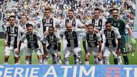 Juventus saat melakoni pertandingan terakhir Serie A musim ini melawan Hellas Verona sekaligus perpisahan Gianluigi Buffon (Alessandro Di Marco/ANSA via AP)