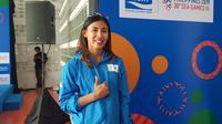 Pelari gawang, Emilia Nova, masih penasaran untuk meraih medali emas di SEA Games 2019. (Bola.com/Zulfirdaus Harahap)