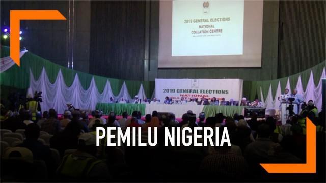 KPU Nigeria mengumumkan hasil pemilihan umum yang memenangkan petahana Muhammadu Buhari.