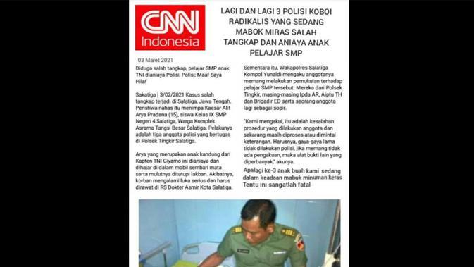 Penelusuran klaim artikel CNN Indonesia
