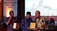 Menteri Pariwisata Arief Yahya saat acara The Inaugural Report of Indonesia Muslim Travel Index (IMTI) (Liputan6.com/Komarudin)