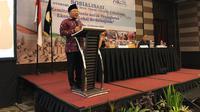 Sekretaris Jenderal Apkasi, Najmul Akhyar menyampaikan sambutan dalam sosialisasi #AOE2019 di Balikpapan. (Istimewa)