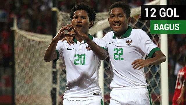 Berita video 12 gol Bagus Kahfi untuk Timnas Indonesia U-16 di Piala AFF U-16 2018.
